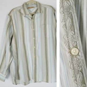 Tommy Bahama tencel lyocell embroidered button up